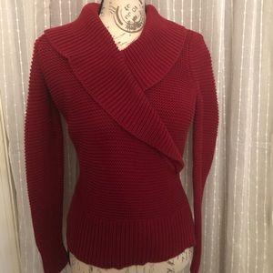 New❤️Talbots warm cotton sweater with pretty neck